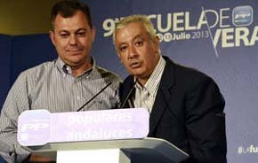 Jose Luis Sanz y Javier Arenas