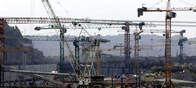 Imagen de la construcción de la ampliación del Canal de Panamá (Reuters)