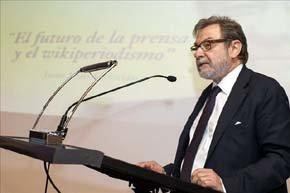 El presidente ejecutivo del Grupo Prisa y miembro de la Real Academia Española, Juan Luis Cebrián. EFE/Archivo