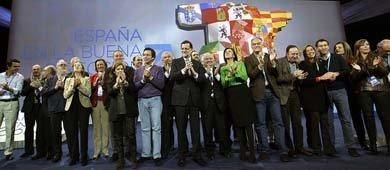 Foto de familia del PP tras la convención celebrada en Valladolid. (Foto: Flickr del PP)