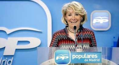 Aguirre podría ser la candidata del PP a la alcaldía de Madrid
