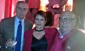 """De (i) a (d): Marcial Zazo, Director de esRadio2, Ana Jurado Directora comercial de esRadio2 y Quino Moreno, del periódico """"EuroMundo Global"""""""
