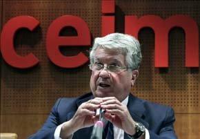 El vicepresidente de la CEOE y presidente de la patronal madrileña (CEIM), Arturo Fernández. EFE/Archivo