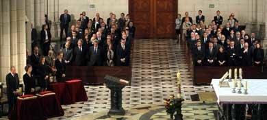 La Familia Real presidió la misa funeral por las victimas del 11-M. (EFE)