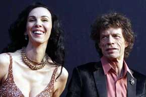 L'Wren Scott y Mick Jagger en una imagen de archivo