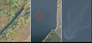 El monstruo del Lago Ness visto desde el espacio