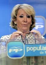 La presidenta del PP de Madrid, Esperanza Aguirre. EFE/Archivo
