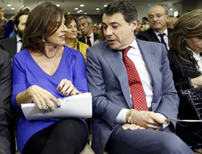 La alcaldesa de Madrid, Ana Botella, junto al presidente de la Comunidad de Madrid, Ignacio González EFE/Archivo
