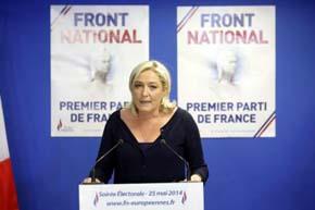 El holandés Wilders y la francesa Le Pen (en la imagen) se reunirán el miércoles en Bruselas