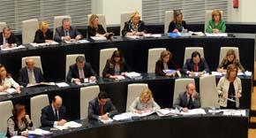 Bancada del Partido Popular durante un pleno en el Ayuntamiento de Madrid. AYTO.