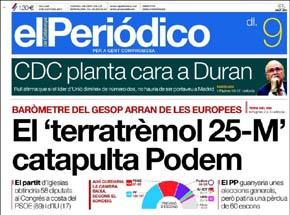 Los españoles dan la espalda al bipartidismo: Podemos obtendría 58 escaños
