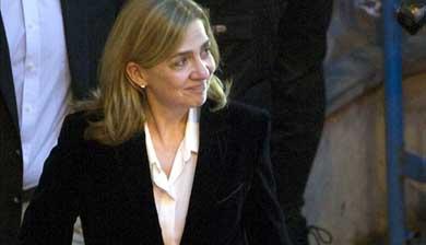 La infanta Cristina a su salida del tribunal de Palma de Mallorca tras finalizar su declaración. EFE