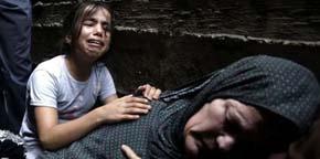 Familiares de un palestino fallecido durante los bombardeos de Israel lloran su pérdida en Gaza AFP / Mohammed Abed