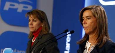 María Dolores de Cospedal y Ana Mato presentan el Código de Buenas Prácticas del Partido Popular. PP