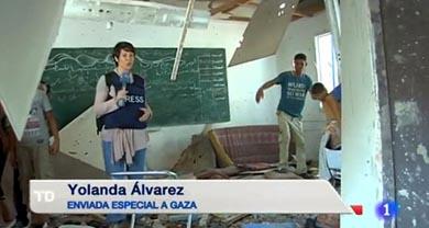 Yolanda Álvarez, enviada especial de TVE a Gaza y… correa de transmisión de Hamas, según Israel