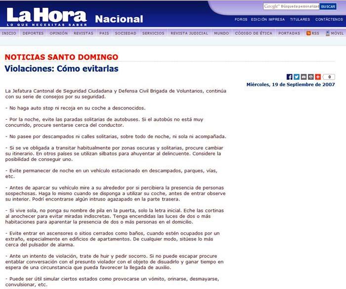 Interior 'copia' sus normas antiviolación de unas que ya circulaban… ¡por Ecuador en 2007!