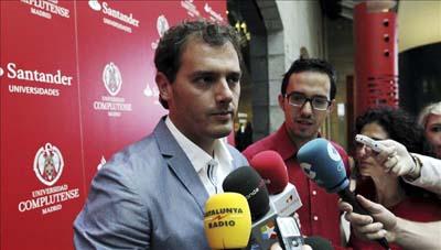 El presidente de Ciutadans, Albert Rivera (i). EFE/Archivo