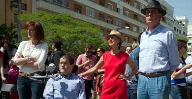 Rosa Díez y Sosa Wagner (d) en un acto de campaña europeas 2014. Foto: UPyD