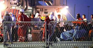 Ascienden a 24 los inmigrantes muertos en el último naufragio en Lampedusa