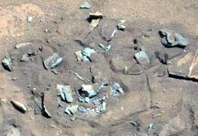 La 'piedra misteriosa' de Marte - Foto: NASA