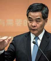 El jefe del ejecutivo Leung Chun-ying en una imagen de archivo en una de sus comparecencias, el 15 de enero de 2014 Philippe Lopez | AFP