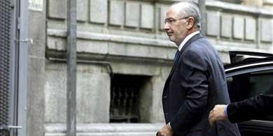 Rodrigo Rato a su llegada a la Audiencia Nacional para declarar como imputado por las tarjetas 'black' / EFE