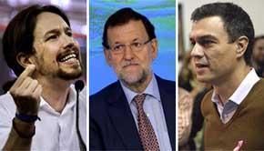 Nueva encuesta: sigue la caída del PP, ligero repunte del PSOE y consolidación de Podemos