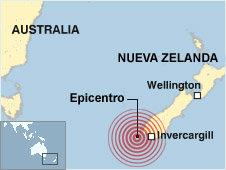 Mapa de ubicación del sismo