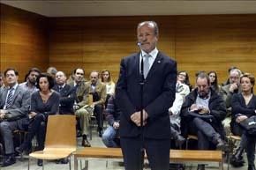 El alcalde de Valladolid, Javier León de la Riva durante su juicio por desobediencia – EFE