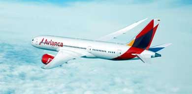B787 Dreamliner de AVIANCA aterriza en Madrid