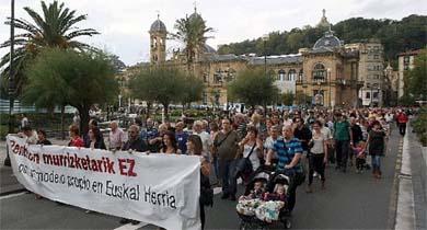 Los jubilados de Guipúzcoa reclaman mejores pensiones