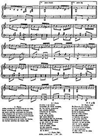 Partitura original del tango