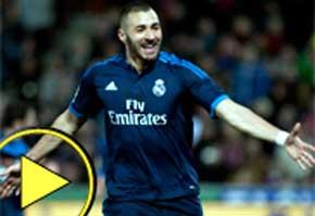Benzema marca en seis jornadas consecutivas por primera vez / AFP.