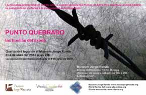 """Exposición: """"Punto Quebrado, las huellas del éxodo"""" en el Museum Jorge Rando de Málaga"""