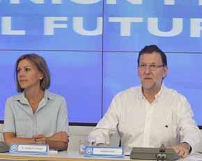Mariano Rajoy resiste y afronta las pr�ximas elecciones con entusiasmo...