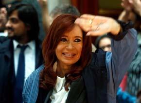 La ex presidenta  de Argentina Cristina Fern�ndez