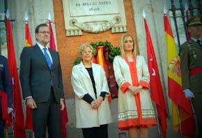 Mariano Rajo, Pdte. del gobierno, Manuela Carmena, Alcaldesa de Madrid y Cristina Cifuentes presidenta de la Comunidad de Madrid