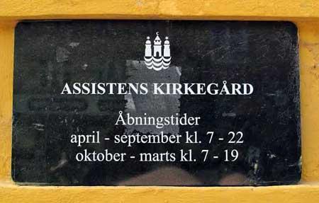 El Cementerio Assistens Kirkegard de Copenhague