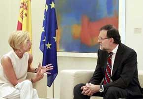 D�ez, con Rajoy, en un encuentro en La Moncloa.