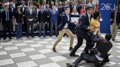 Un ciudadano grita a Rajoy