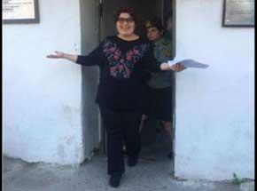 La periodista azerbayana Khadija Ismayilova recuper� su libertad este mi�rcoles
