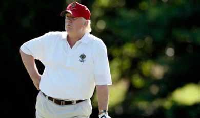 Trump se convierte al cambio climático para proteger un campo de golf