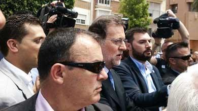 Rajoy recibe gritos de