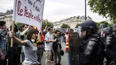 Aumentan los disturbios en nuevas protestas por la reforma laboral francesa