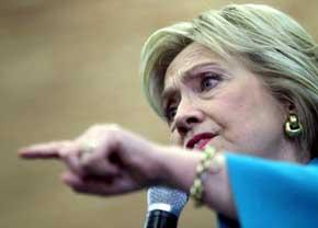 La candidata dem�crata a la Presidencia, Hillary Clinton.P