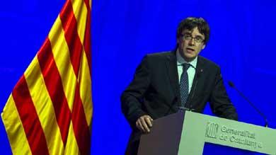 El presidente del Gobierno de Catalu�a, el independentista Carles Puigdemont