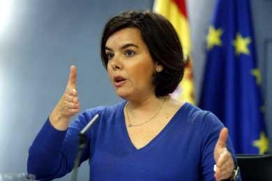 La vicepresidenta en funciones Soraya Sa�nz de Santamar�a