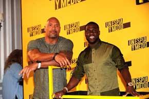 """Dwayne Johnson y Kevin Hart en Madrid para presentar """"Un espía y medio"""", su última película"""
