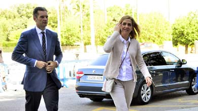 Iñaki Urdangarin y su esposa, la infanta Cristina