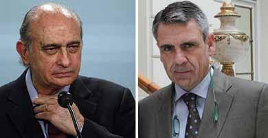 Jorge Fern�ndez-D�az (d) y el director de la Oficina Antifraude de Catalu�a (OAC), Daniel de Alfonso